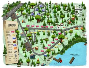 Lazy Rock campground map
