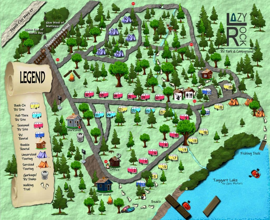 Lazy Rock Campground Map 2020