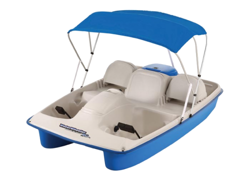 Electric paddleboat with canopy